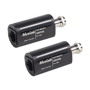 Muxlab 500302-2PK CATV Balun II (Pack of 2)