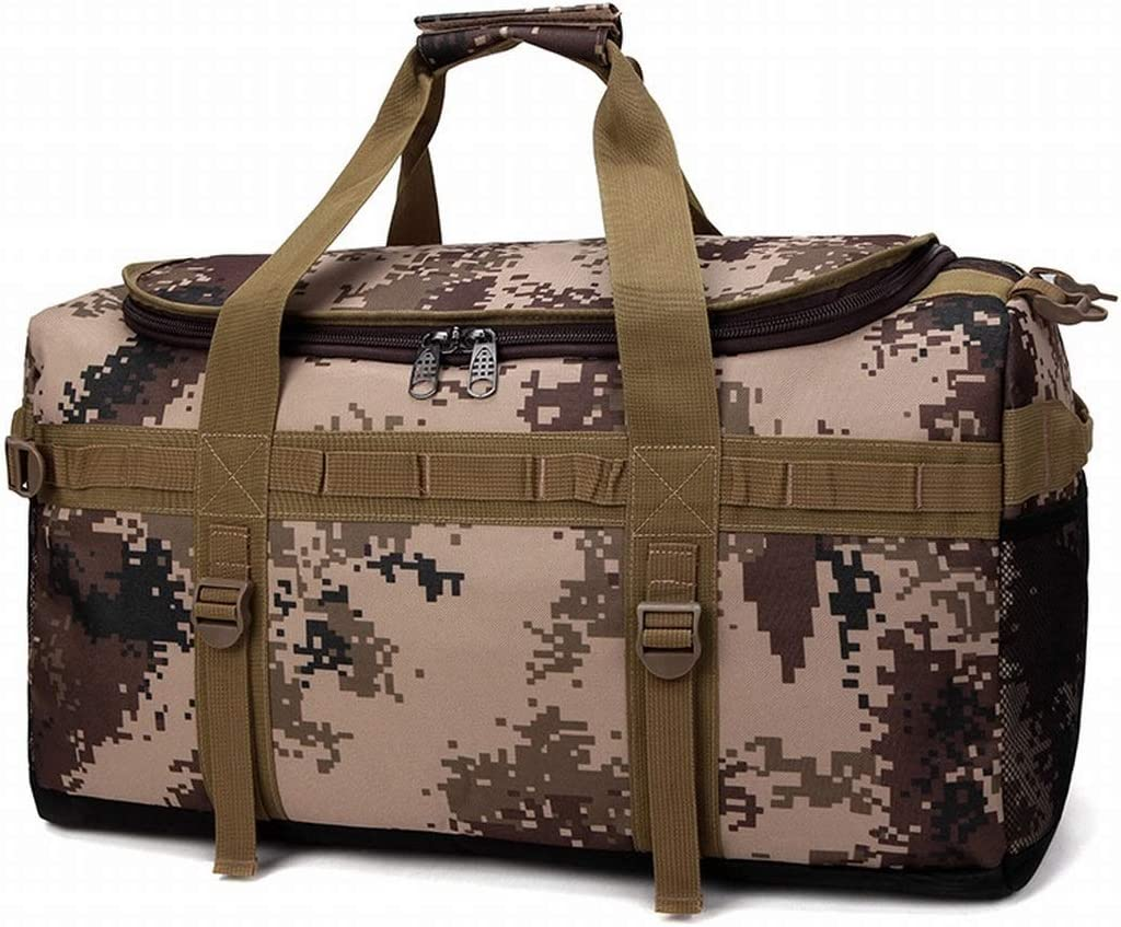 Color : Brown XIAMEND Sports Duffels Backpacks Gym Bags Waterproof Travel Duffel Bag for Men and Women