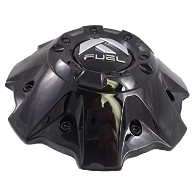 Fuel Wheels Black Gloss Center Cap with Black Rivets (Qty 1) # 1001-63GBR with Screws: Automotive