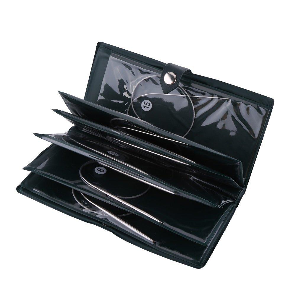 Aghi circolari in acciaio inox strumenti a maglia in acciaio inossidabile uncinetto accessori fai da te SH49942