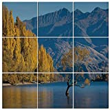 zeal free range - Canvas Painting Wall Art Decor Nature 9 Panels Modern Zen Canvas Painting Prints Giclee Art for Home Office and Kitchen Framed Ready to Hang,Sunken Tree Lake on Mountain Range Exquisite Rural New Zeal