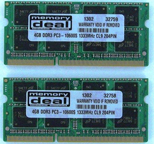 Dataram 8GB (2X4GB) DDR3 PC3-10600 1333 MHz Memory Ram Fo...
