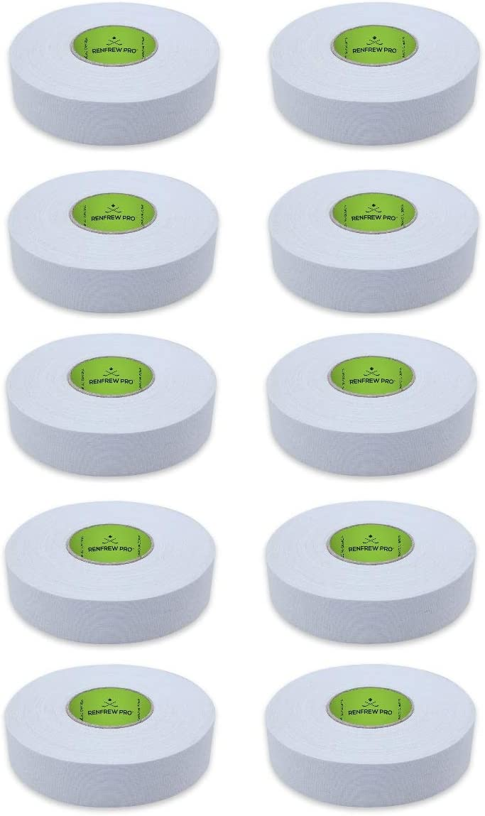 NEW Renfrew 10 Roll Pack Clear Ice Hockey Stick Blade Handle TAPE 24MM x 30M