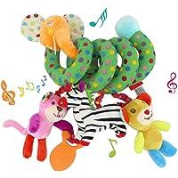 Amiispe Espiral de Actividad para Juguetes para bebés Multicolor, el Juguete para niños pequeños es el Cochecito bebés…