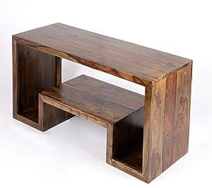 Ikiriya 100% Solid Sheesham Wooden Cabinet/TV Unit/Entertainment Furniture/Wooden Rack - Teak Finish
