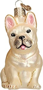 Old World Christmas Ornaments: French Bulldog Glass Blown Ornaments for Christmas Tree (12436)