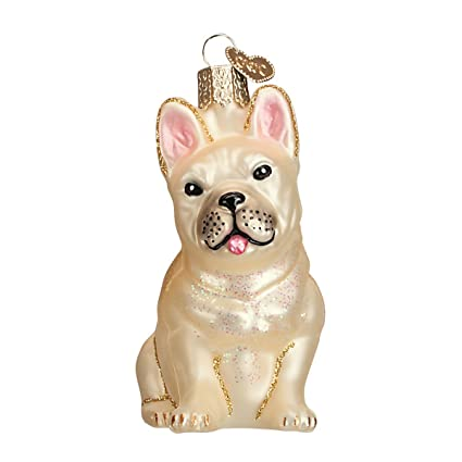 Old World Christmas Ornaments: French Bulldog Glass Blown Ornaments for  Christmas Tree (12436) - Amazon.com: Old World Christmas Ornaments: French Bulldog Glass