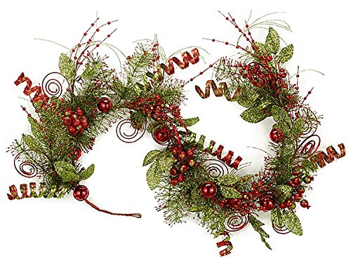 Amazon Com Christmas Garland Glittered Sequined Lime Green And