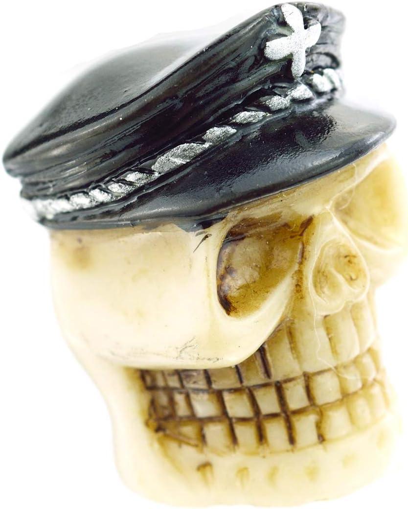 Lunsom Skull Tires Valve Stem Caps Car Wheels Valves Hole Cover Accessories Fit Most Vehicle Motorcycle Bike 4PCs Black Hat