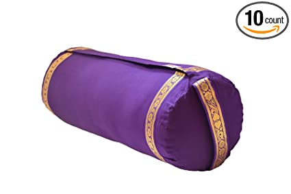 Amazon.com : Yoga Bolster with Cotton Cover - Purple ...
