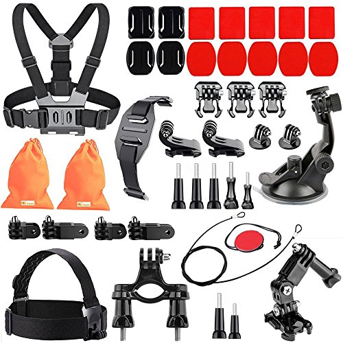 Action Camera Accessories Kit for Crosstour/ Fitfort 4K/ Gopro