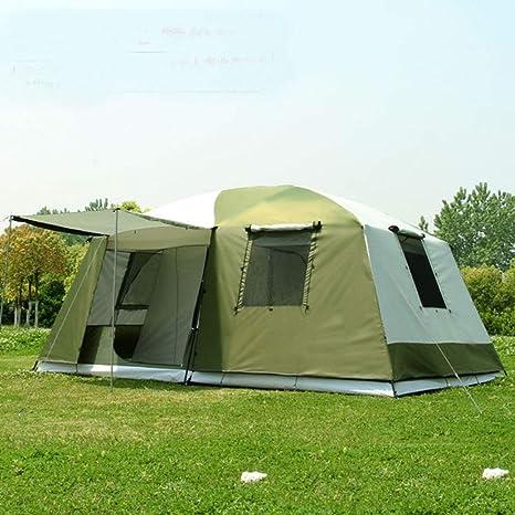 F&zbhzy Carpa 10Persons Doble Capa 2 Habitaciones 1hall Gran Tienda de campaña para Fiestas Familiares al Aire Libre Gran Espacio: Amazon.es: Deportes y aire libre