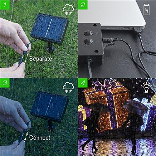 Solar String Lights 72ft 200 Led Fairy Lights Ambiance