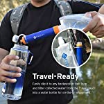 Etekcity Water Filter Straw Camping Water Purification Portable Water Filter Survival Kit for Camping, Hiking, Emergency… 13 SAFETY TESTED: Etekcity water purifier has been tested by German TüV SüD Examination Institute and meet EPA Water Quality Standards. The pouch is FDA Compliant in accordance with 21 CFR 180. 22 to ensure maximum quality and safety ADVANCED FILTRATION DESIGN: Pre-filter to defense large contaminants. Ion-exchange resin to remove chlorine, heavy metal ions, THMs. Activated carbon to eliminate odors. 0. 01Μm hollow fiber UF inline Membrane to filter 99. 9999% waterborne rubbish DEPENDABLE ACCESSORIES: Prepared with a Foldable Water Pouch(480ML, 16oz) with D type hook, an Extension Tube(70cm), a Syringe(back wash device), an Inlet Mouthpiece(pre-filtration device with 1 PP Cotton Pad), additional Four PP Cotton Pads