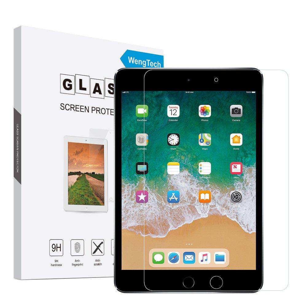 iPad Mini 4 Glass Screen Protector, WengTech 9H Hardness Scratch-Resistant Anti-Fingerprint Tempered Glass Screen Protector for iPad Mini 4
