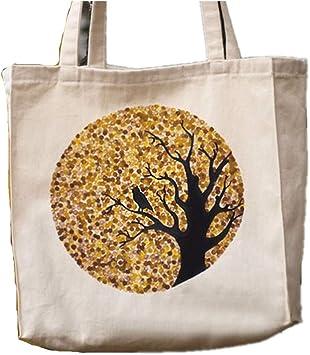 Bolsa de algodón con diseño de búho, Bolsa ecológica, Bolsa de ...