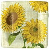 Paper Plates Party Supplies Wedding Birthday Dessert Plates or Salad Plates Sunflowers Pack of 16