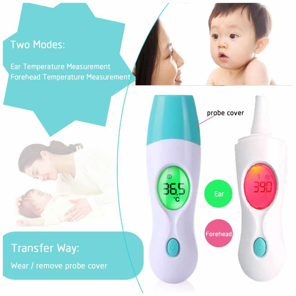 Erwachsene LCD-Bildschirm 8 In 1 Elektronisches Baby Thermometer Multifunktionales Infrarot Temperaturmessger/ät Erwachsene Stirnohr Digital Thermometer Geeignet F/ür Baby Kleinkinder