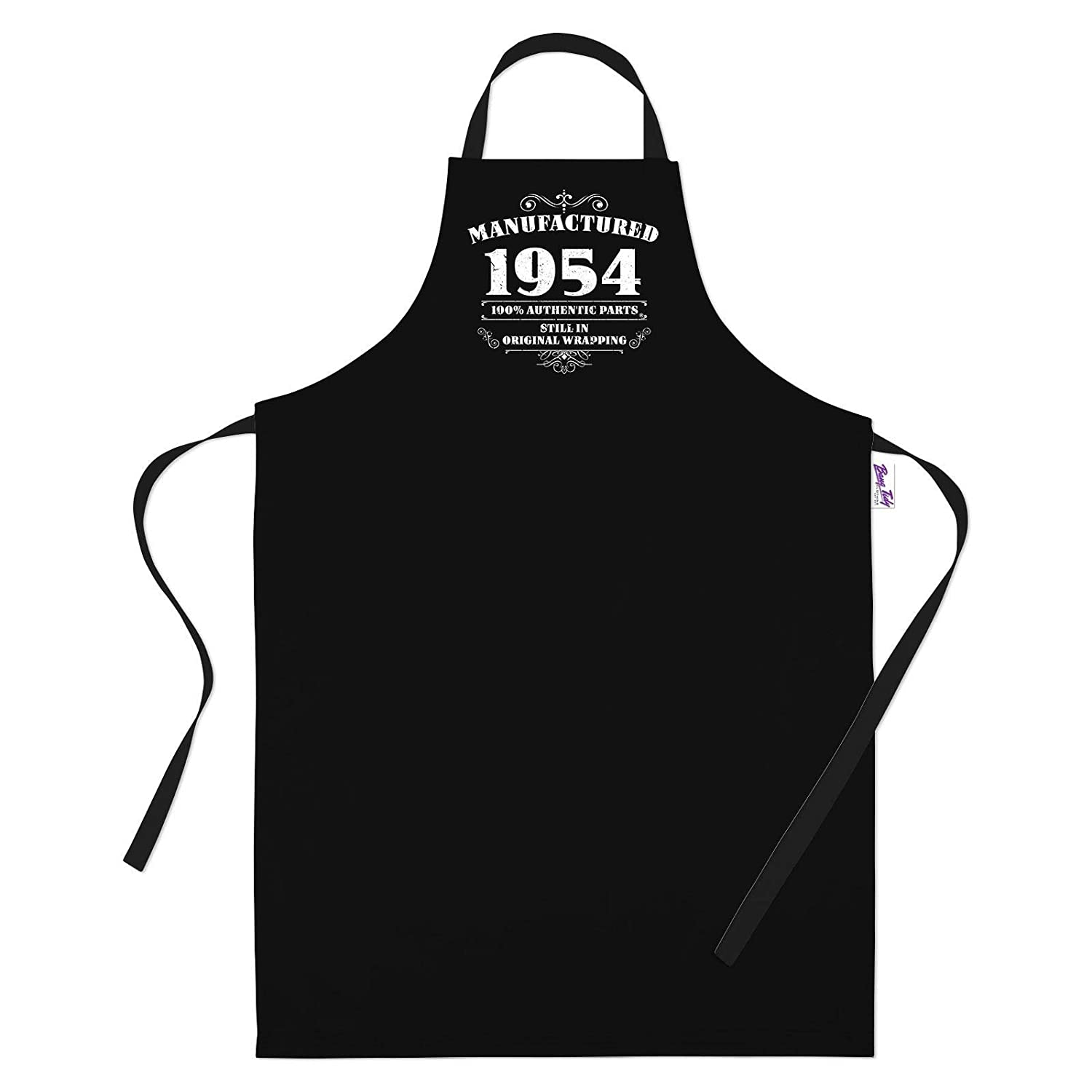 65th Birthday Presents for Women Ladies Gifts Her Funny Apron Manufactured 1954 Bang Tidy Clothing RA605