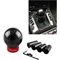 Festnight Car Gear Shift Knob Shifter Lever Round Ball Shape Black Carbon Fiber Universal