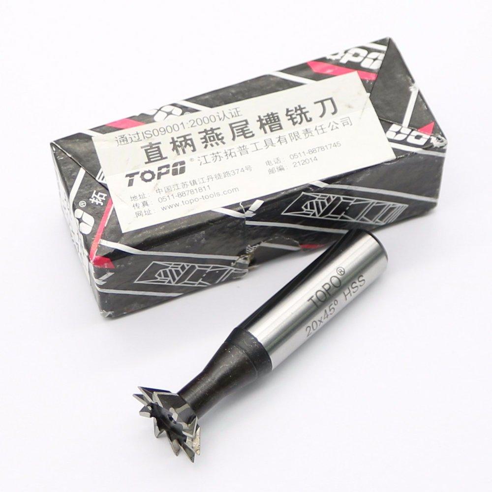 25mm X 60 Degree HSS Straight Shank Dovetail Slot Cutter End Mill CNC Bit