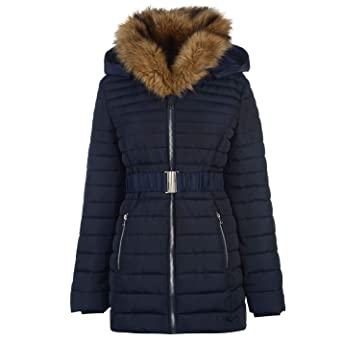 001beecd7 Golddigga Belted Bubble Jacket Womens Coats Outerwear: Amazon.co.uk ...