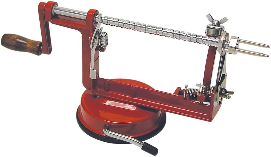 R&M International Apple Peeler Machine with Suction Mount, Peels, Cores and Slices