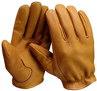 product image for Churchill Classic Short Wrist Deerskin Motorcycle Gloves Made in America Tan (XXXLarge)