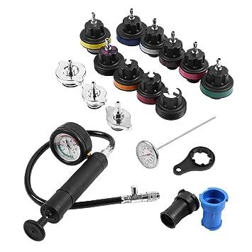 Probador del Tanque de Agua, Kit Universal del Probador del Sistema de Enfriamiento del Coche Del Detector de Fugas del Tanque de Agua 18pcs: Amazon.es: ...