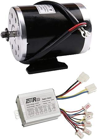 Brushed Motor Go Kart Electric Go Kart Motor 24 Volt 500Watts w//Controller