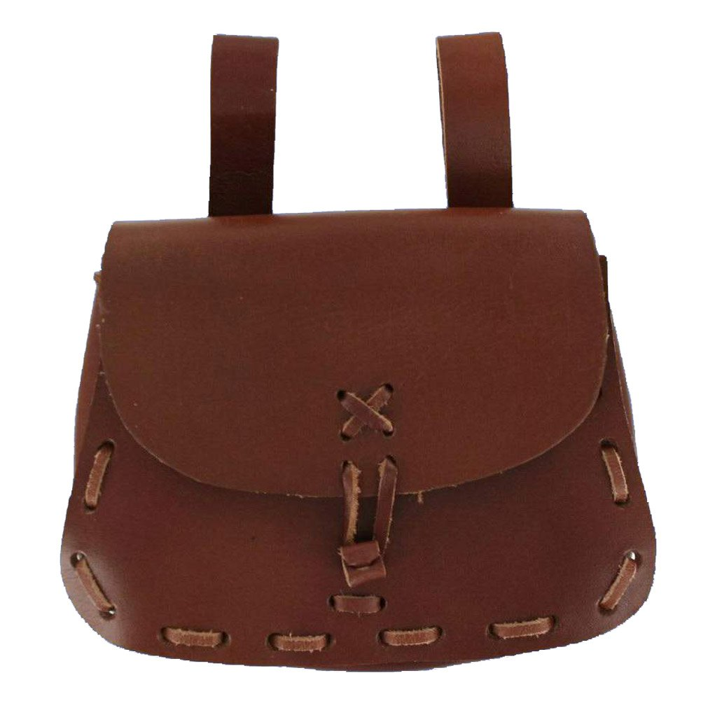 Men's Genuine Brown Leather Messenger Bag