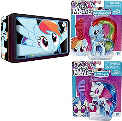 My Little Pony Collectors Exclusive Tin Rainbow Dash Card Collection / Foil / Stickers / Posters / Dog Tag / Tattoos / Card Packs - The Movie Figures All About DJ Pop-3