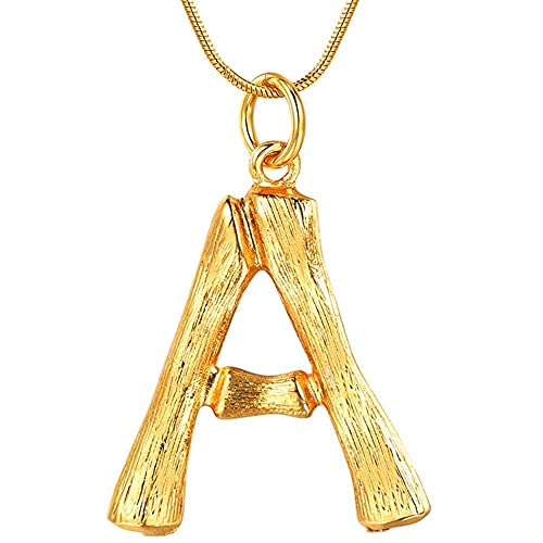 3f70825a44b Amazon.com: GARYOB 26 Letter DIY Charm Bamboo Pendant Necklaces for Women  Gold Plated Initial Necklace Clavicular Pendants Snake Chain: Jewelry
