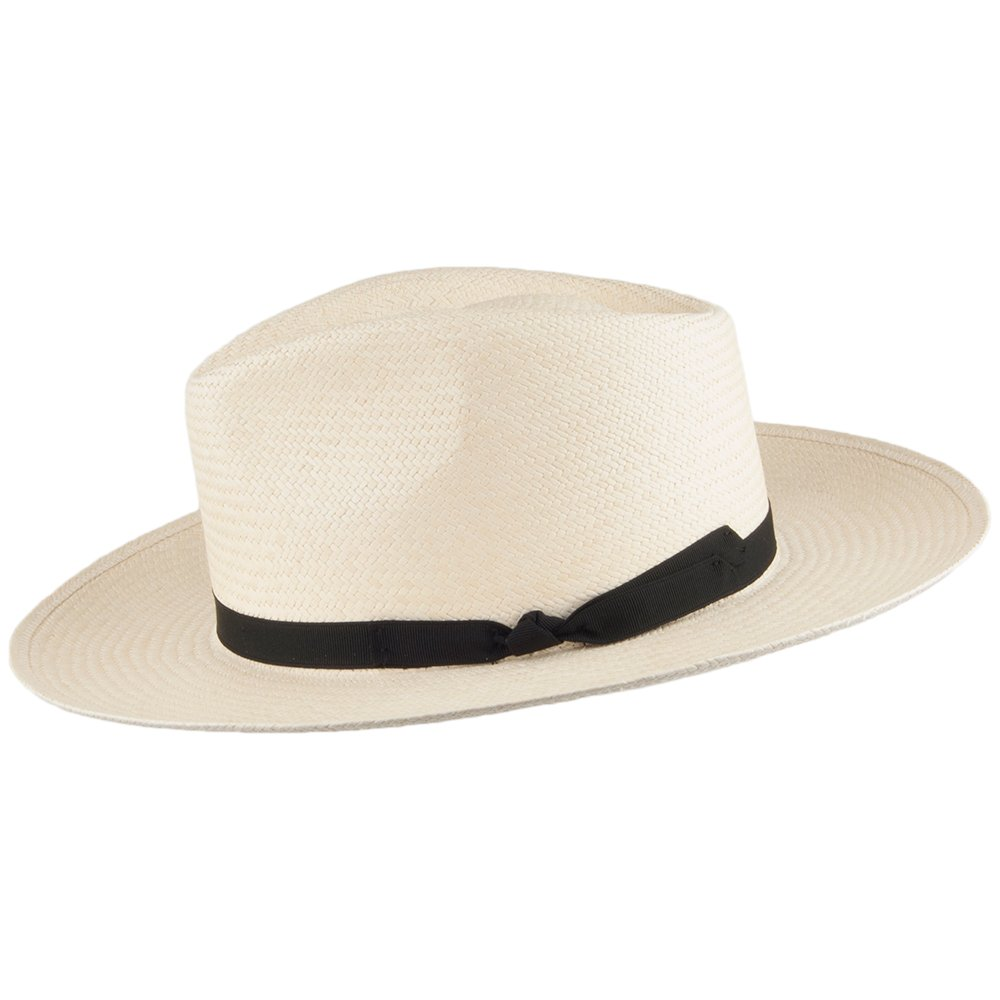 Signes Hats Gaudi Panama Fedora Hat Natural