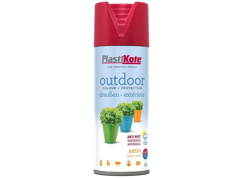 Plasti-kote 18107 400ml Outdoor Satin Spray - Real Red PKT18107 B0051HFPUM