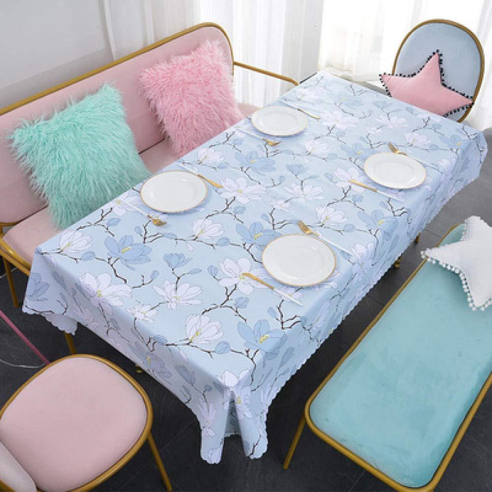 WJJYTX Wachstuch tischdecke, Quadratische Tischdecke für Tischtücher PVC-Tischtuch ölbeständig/wasserdicht schmutzabweisend Verbrühungshemmende Teetischdecke elegant Orchid @ 135 * 180