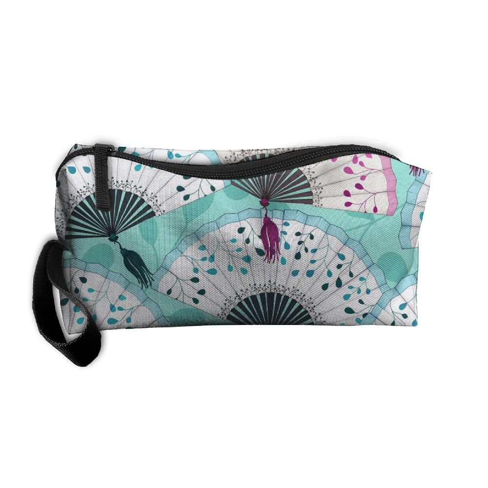 Vvdfedsee Paper Fans Multifunction Handle Toiletry Bag Portable Buggy Bag  Travel Small Makeup Clutch Bag Cosmetic 763f5fd413