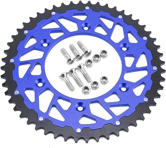 CNC Aluminum Steel Composite 44 T Rear Chain Sprocket For SUZUKI RM125 RM250 RMX250 RMX450Z RMZ250 RMZ450 RS175 TSR125 TSR200 DR250 DR350 DRZ250 DRZ400E DRZ400S DRZ400SM DRZ400 RMZ 250 450 Dirt Bike