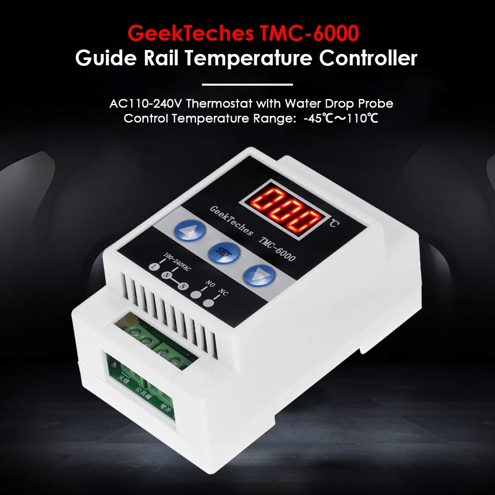 TOOGOO TMC-6000 110-240V Guide Rail Thermoregulator Digital Temperature Controller Thermostat Refrigeration Heating Temperature Control by Toogoo (Image #7)