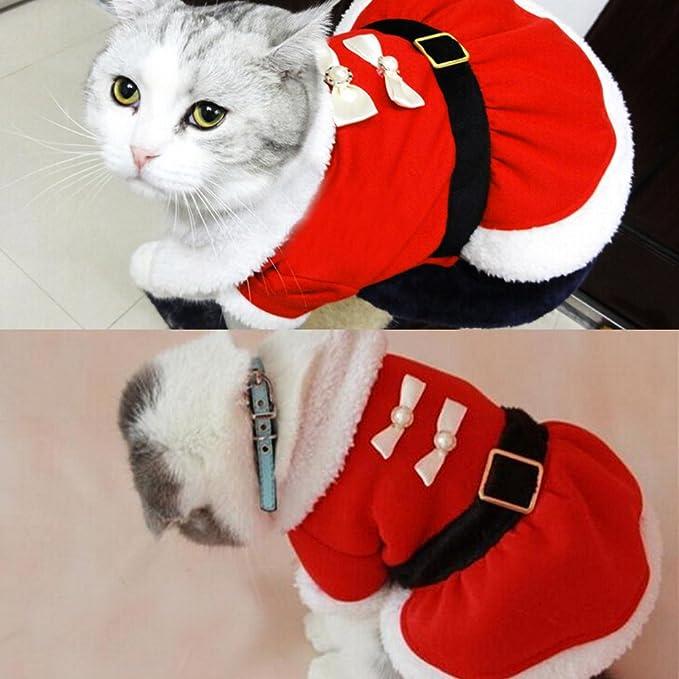 Amazon.com: bolbove Pet Navidad Santa Claus Disfraz de ...