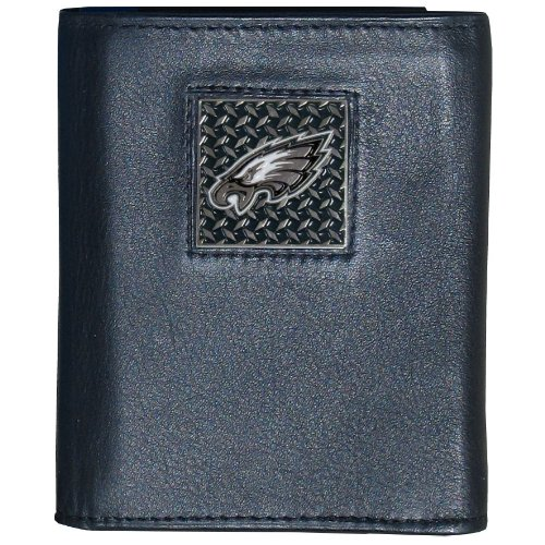 - NFL Philadelphia Eagles Gridiron Leather Tri-Fold Wallet