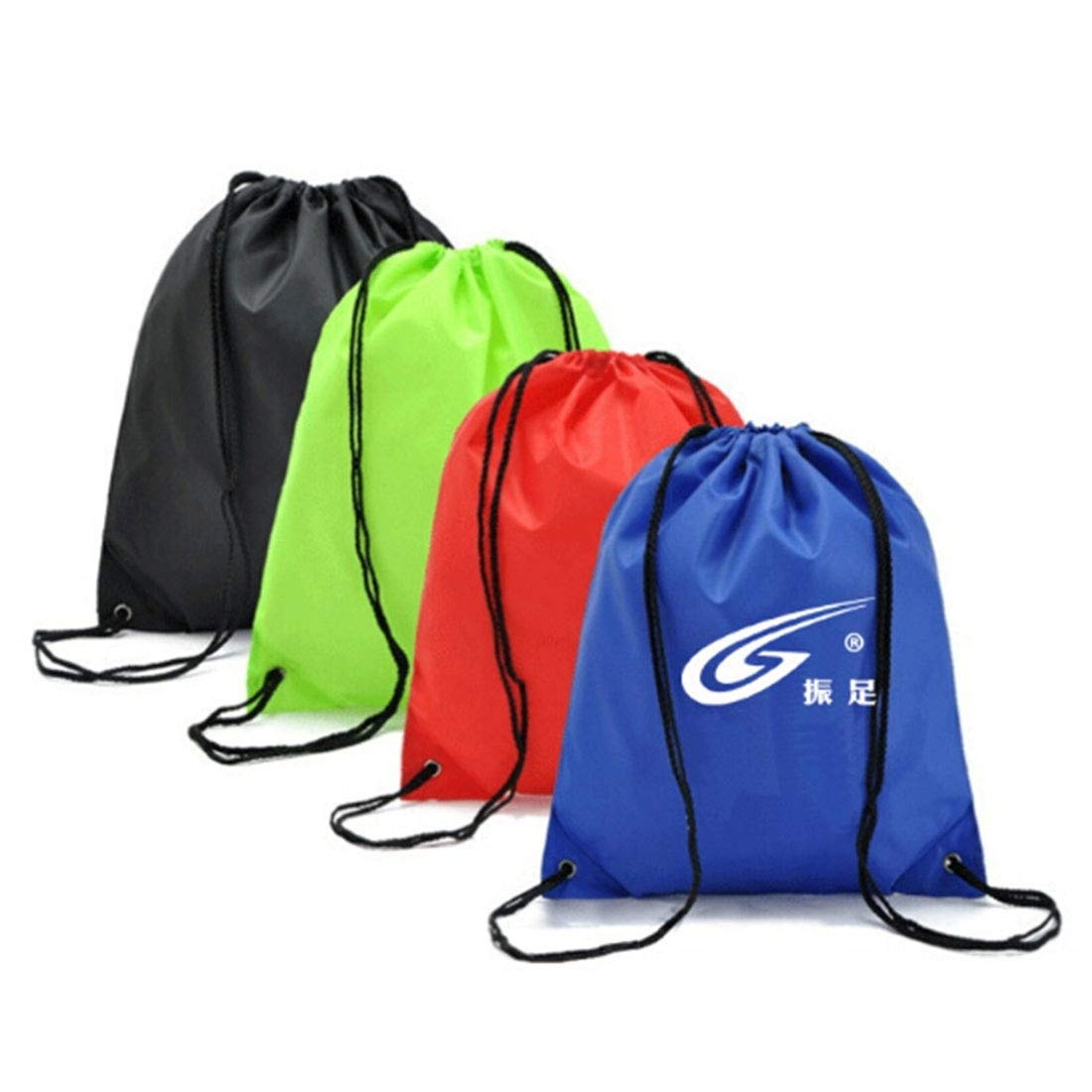 19134376a7 Amazon.com  MUMUWU Zhenzu Outside Sportsmanlike Bag Polyester Fabric Draw  Cord Bundle Backpack Football Bag (Color   Red)  Sports   Outdoors