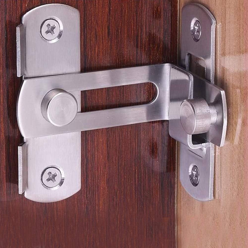 Tiberham Loquet /à angle droit en acier inoxydable pour porte coulissante /à 90 degr/és