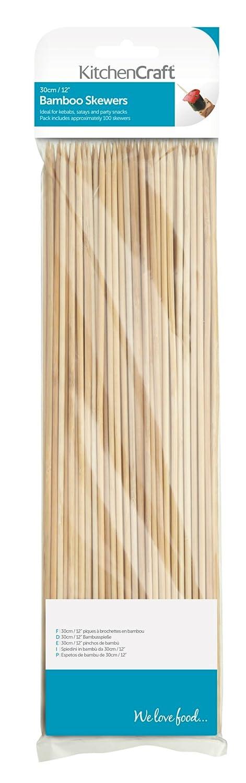 Kitchen Craft KCBAMBOO30 Bambus-Spieße, 30cm, 100er-Beutel, Beige 30cm Kitchencraft