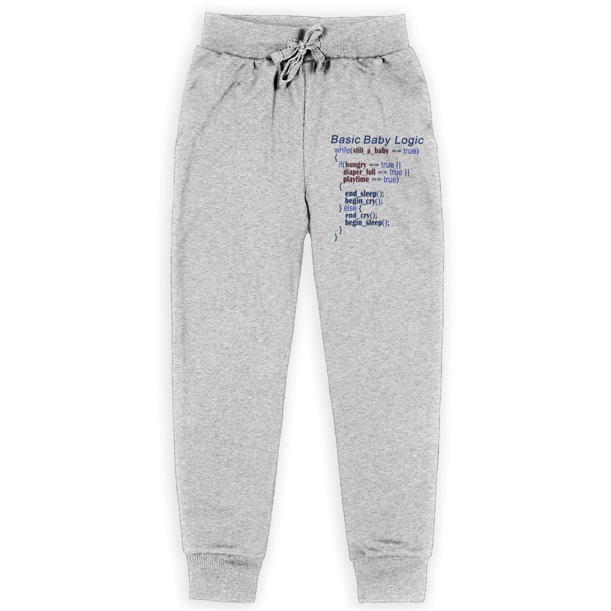 Be A Ice Basic Baby Logic Teen Boys Sweatpants Elastic Waist Pants Sports Pants