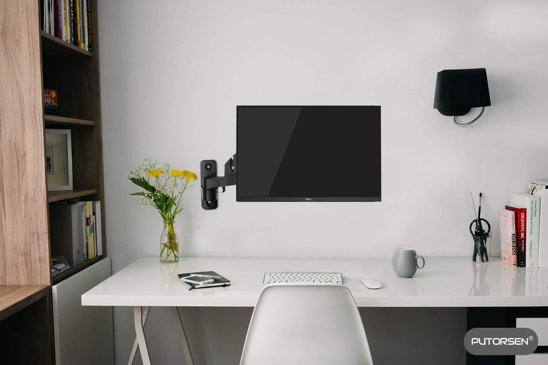 PUTORSEN/® Monitor Halterung 2 Monitore Monitor Tischhalterung Mechanischfeder 8kg//Arm VESA 75x75 100x100mm Premium Schwenkbare Neigbare Monitorhalterung f/ür Zwei 17-32 LED LCD Bildschirme