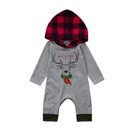 Vestidos Niña Invierno,Ropa Recien Nacido Niña,Recién Nacido Infantil Bebé Niña Ciervos Tela