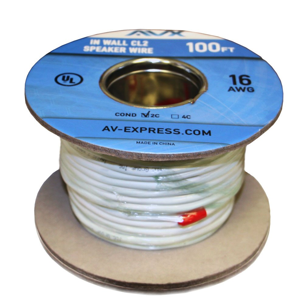 Amazon.com: AVX Audio - 100 Feet 16 AWG CL2 Rated (For In-Wall Usage ...