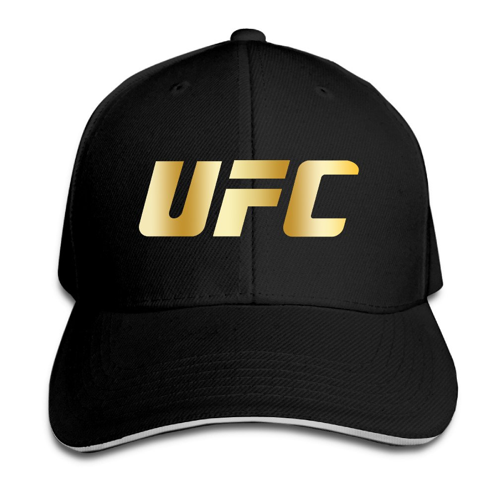 UFC BLACK GOLD LOGO Men's Flex Baseball Cap Budontf