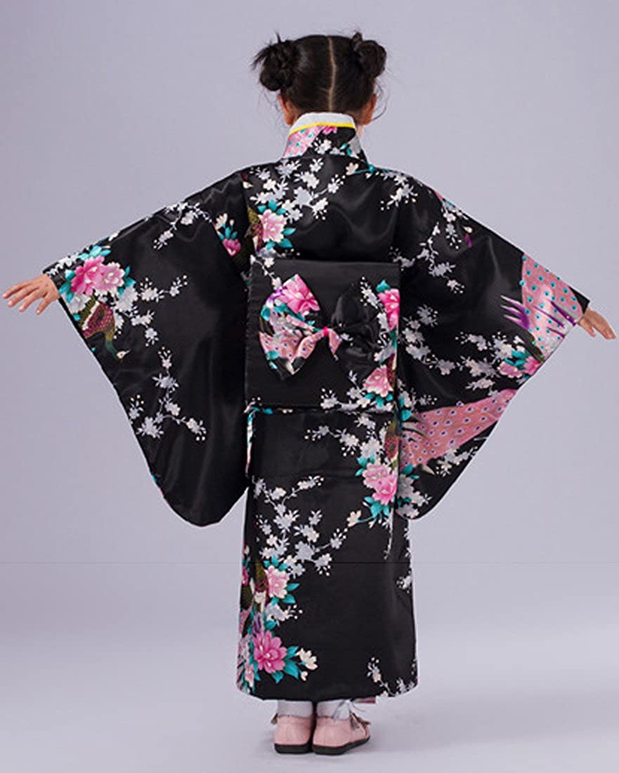 YueLian Bimba Kimono Stampato Pavone 5 Colori